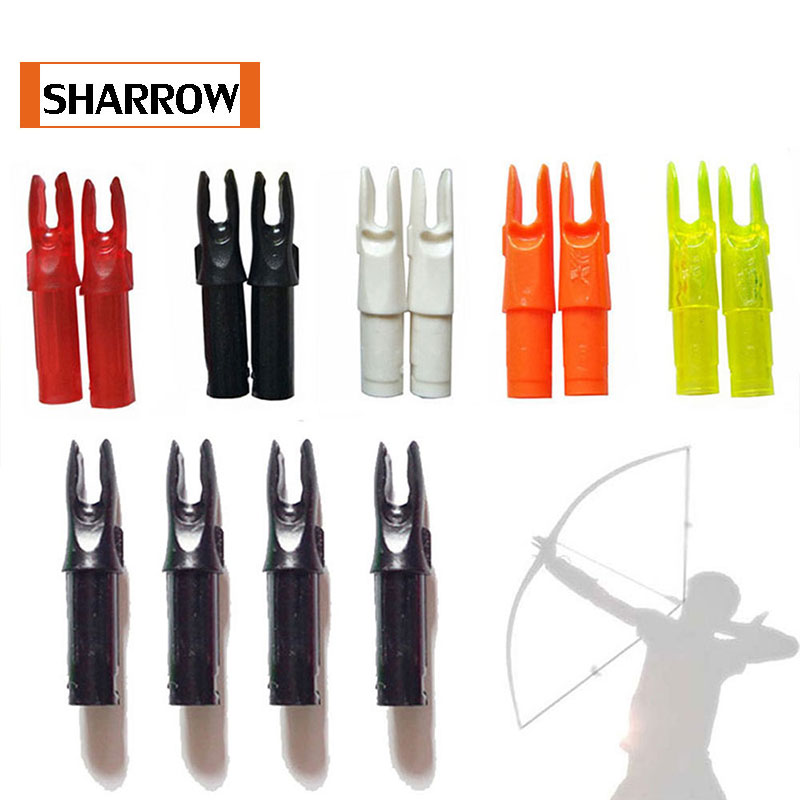 Free Shipping 30Pcs Archery Arrow Nock For ID6.2mm Carbon Arrow Shaft For Hunting Camping 12 archery carbon arrow spine300 340 400 500 600 fluorescent yellow shaft compound bow shoot id6 2mm pin nock