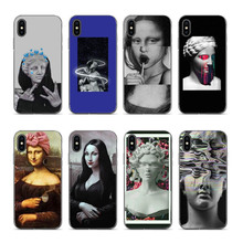 OUTMIX Mona Lisa Art David lines High Quality Phone Case For iPhone 7 7plus 8 8plus X XS XR max 5 5s 6 6S 6plus Coque Shell Case недорого