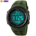 SKMEI 2017 New popular Brand Men watches fashion Digital-watch sports LED Wristwatches 50m waterproof relogio masculino PU strap