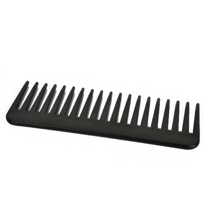 19 Teeth ABS Plastic Wide Tooth Combs Black Heat-resistant Large Wide Tooth Comb Detangling Hairdressing Comb For Styling Tool