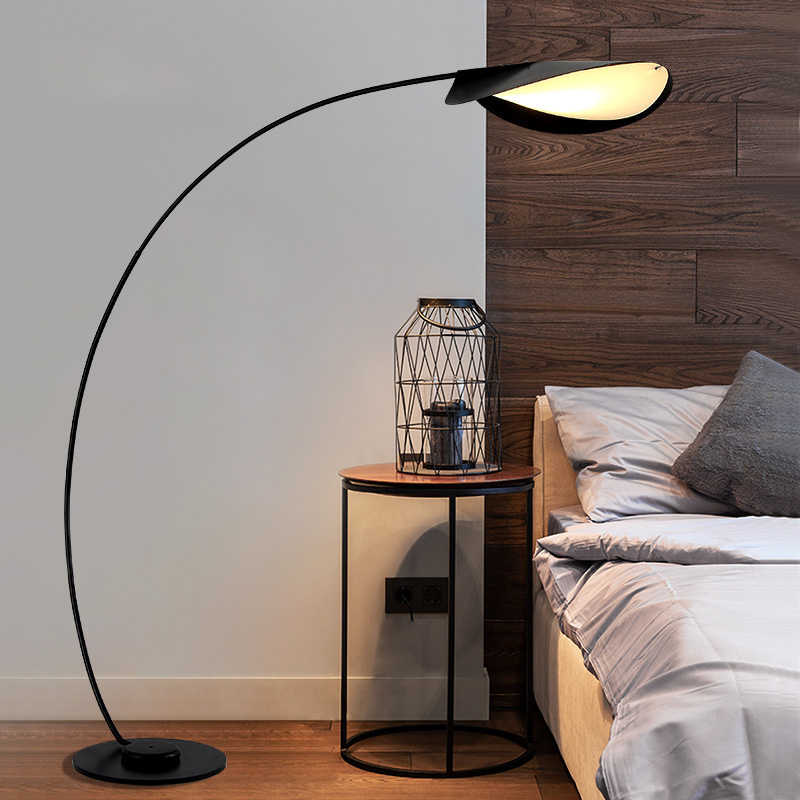 Modern nordic europe Iron floor lamp living room Indoor home standing lamp  LED decor Fashion studyroom floor lamps floor light