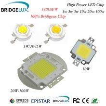 1 шт. Мощный светодиодный чип Bridgelux 3 Вт 5 Вт 10 Вт 20 Вт 30 Вт 50 Вт 100 Вт SMD светодиодный светильник COB белый/теплый белый для прожектора