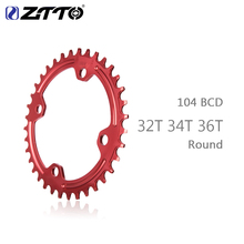 ZTTO Single Speed 1x System Narrow Wide Chainring 104 BCD ROUND 32T 34T 36T For MTB 11s 10s 9s 1*11 Crankset Chainwheel Ring цена