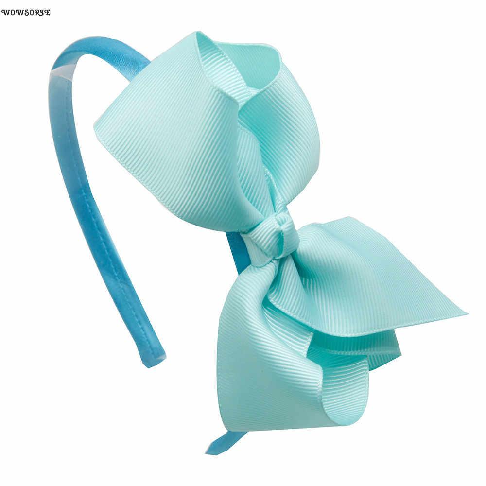 Proste jednolity kolor nakrycia głowy 2018 nowy słodkie wstążki z pałąkiem na głowę Tiara dziewczyny opaska do włosów śliczne dzieci akcesoria do włosów Hoop 20 kolory