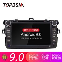 TOPBSNA Android 9.0 2 Din Car DVD Player for Toyota Corolla E140/150 2006 2007 2009 2010 2011 2012 2013 WIFI GPS Navigation Auto