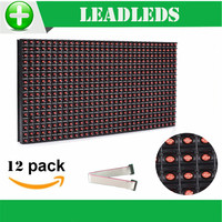 12 Pieces Lot 320 160mm 32 16pixels P10 Outdoor Waterproof Red Led Module For Single