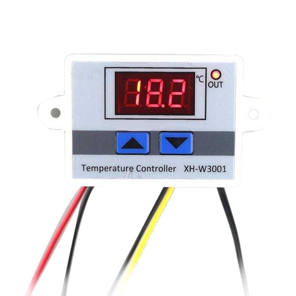 12V 24V 220V Digital LED Temperature Controller Thermostat Control Switch Waterproof Probe Wire Connect High Sensitivity Sensor
