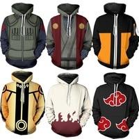 Hokage Uzumaki Naruto Hoodie Sweatshirt Cosplay 3D vest style fashionable hoodie coat Sweatshirts for men and women in autumn
