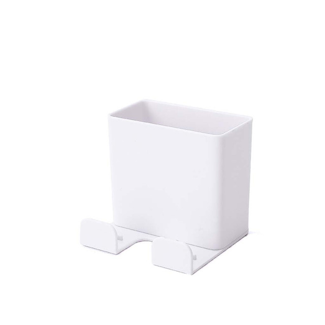 Wall Hanging Remote Controller Mobile Phone Bracket Storage Box No Hole Switch Shelf Bathroom Organizer Kitchen Storage Holder