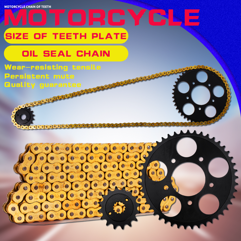 1 Set Front and Rear Sprocket Chain & chain For Honda Steed 400 600 Motorcycle Accessories sprocket chain front brake disc for honda steed 400 600 motorcycle parts