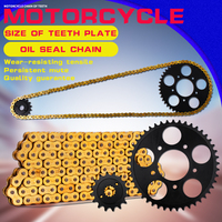 1 Set Front and Rear Sprocket Chain & chain For Honda Steed 400 600 Motorcycle Accessories sprocket chain