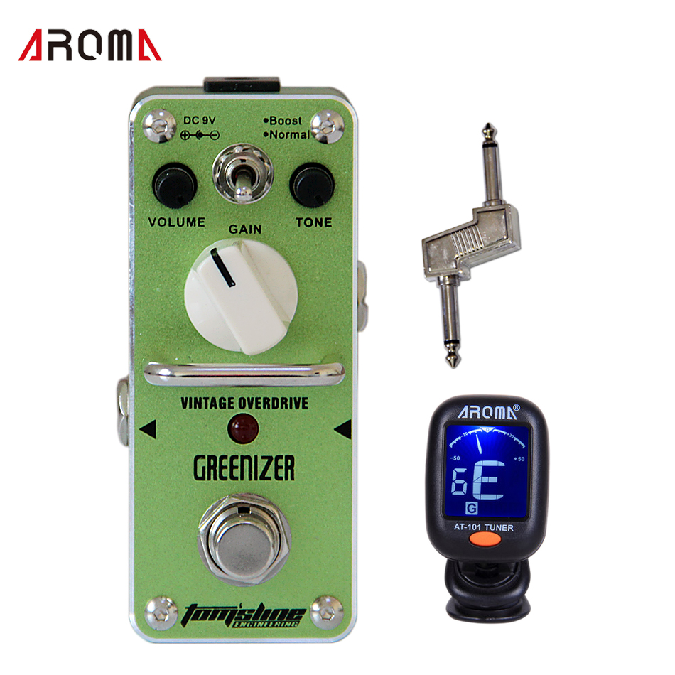 ФОТО Guitar Pedal AROMA AGR-3 GREENIZER Effect Pedal with Guitar Pedal Connector and 1 Guitar Tuner