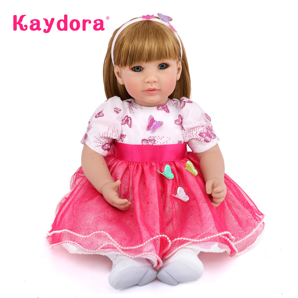 Kaydora 50 CM Adorable Princess Doll Reborn Soft Silicone boneca Baby Alive Doll Baby Reborn Christmas Gift For Kids COLLECTION