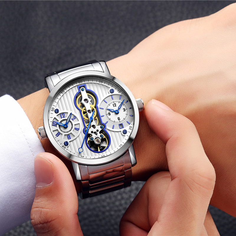 Mens Mechanical Watches Top Brand Luxury Tourbillon Automatic Watch Men Dual Time Zone Clock GUANQIN Wristwatch reloj hombre Mens Mechanical Watches Top Brand Luxury Tourbillon Automatic Watch Men Dual Time Zone Clock GUANQIN Wristwatch reloj hombre