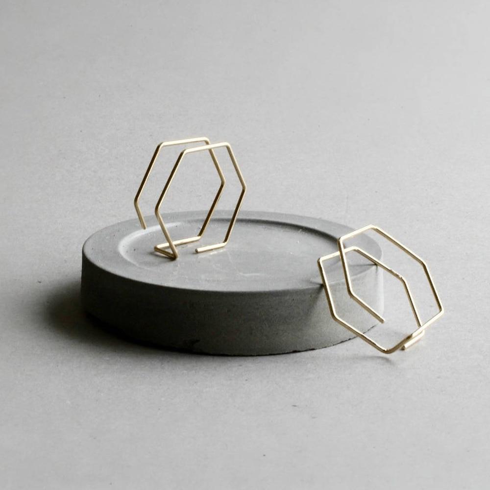 Minimalist Earrings Handmade Jewelry Gold Filled 925 Silver Brincos Orecchini Oorbellen Pendientes Earrings For Women
