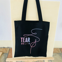 BTS Love Yourself liss Tote New Album Love Fake High Quality Women Big Shopping Bag Foldable Canvas Cotton Shoulder Bag