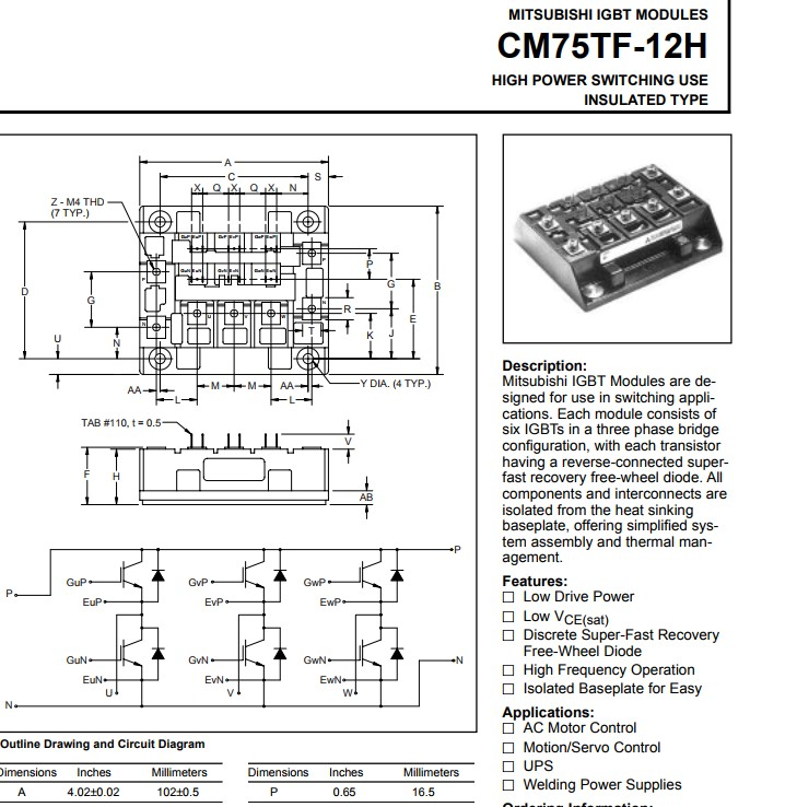 Free Shipping NEW  CM75TF-12H  MODULE