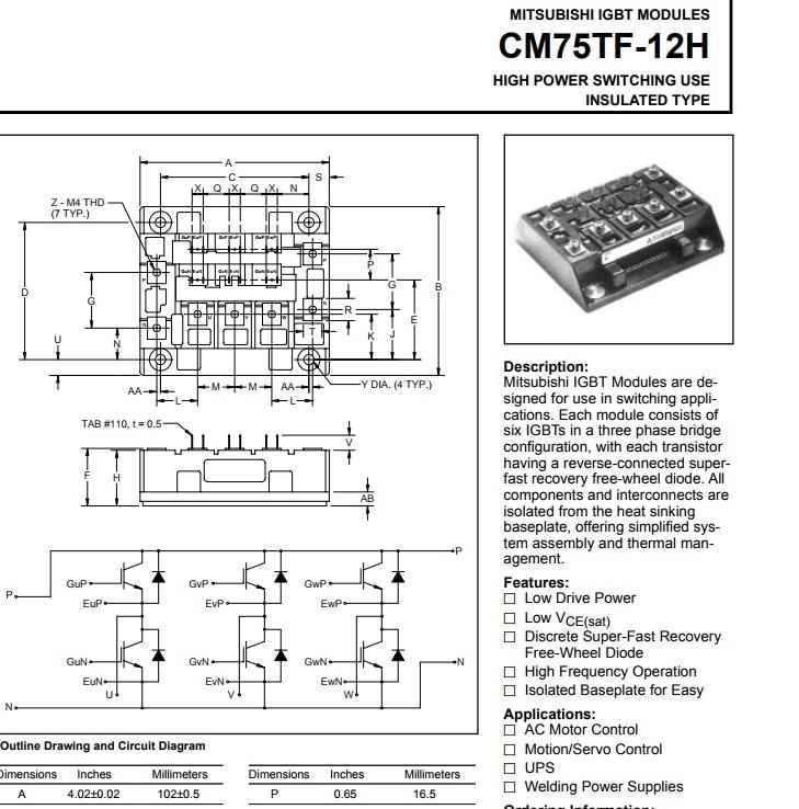 Free Shipping NEW  CM75TF-12H  MODULE