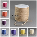 15 Colors 2mm; 100m/roll Colored Hemp Cord Rope Jewelry Making environmental dyed DIY hand-knitted decorative gift pack thread