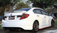 use for honda civic Spoiler 2012 2015 civic Spoiler with light High Quality ABS Material Car Wing Primer Color with LED spoiler