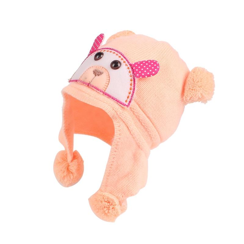 Плюшена шапка за бебешки момичета  - Бебешки дрехи - Снимка 2