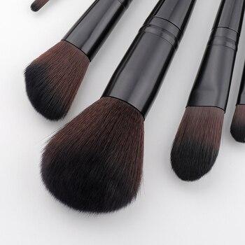 FLD 10pcs Professional Face Powder Lip Liner Eye Eyeliner Brushes Set Foundation Eyebrow Eyeshadow Make Up Brushes Set 6