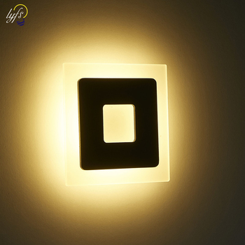 Lyfs الحديثة البساطة LED مصباح أباجورة الدافئة الأبيض ضوء 90-265 V السرير غرفة المعيشة غرفة شمعدانات جدارية