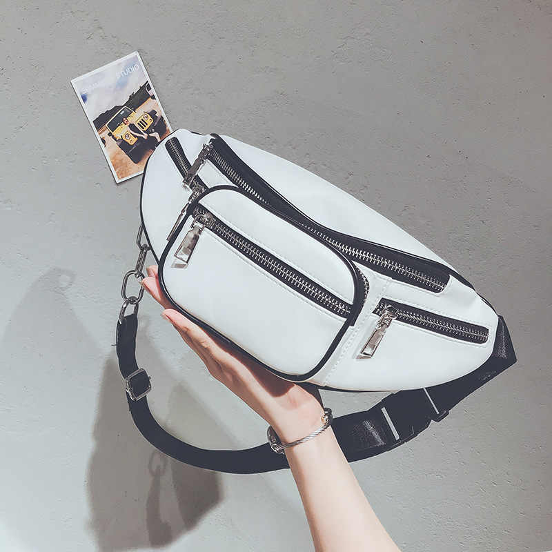 7f2eece8fab8 ... Поясная Сумка Для сумка поясная женская белого сумка на пояс Элитный  бренд кожа бананка груди сумки ...