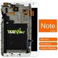 2 pcs 1000% original para samsung note n7000 i9220 lcd e tela sensível ao toque digitador assembléia painel com moldura