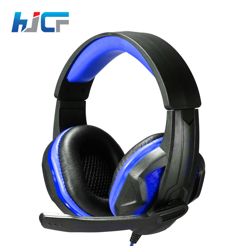 HJCF Stereo Music Super Bass Gaming Headset Casque Audio Earphone Light Headphone With Mic For Computer Gamer SY711 new wired gaming headset stereo headphone bass earphone with mic for pc computer gamer mp3 player audio