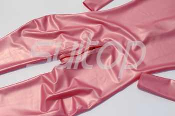 latex metallic pink catsuit rubber zentai High Quanlity level Teddies & bodysuits