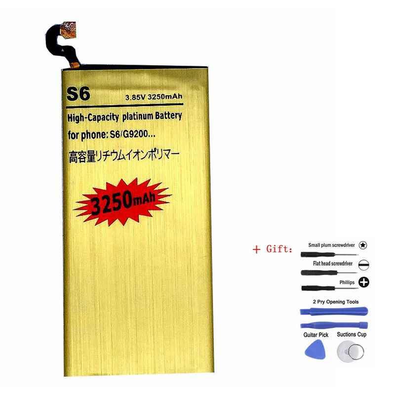 G9200 بطارية لأجهزة سامسونج غالاكسي S6 G920f G920i G920A G920S G920L G920K قابلة للشحن ليثيوم أيون تراكم بطاريات على الهاتف