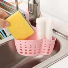 Joyathome Adjustable Kitchen Sink Hanging Bag Rack Sponge Drain Storage Holder Baskets Soap