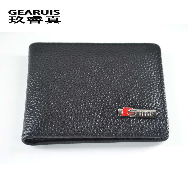 Car styling Leather Credit Card Holder ID Card Case Bank Wallet Driver License Holder Wallet S line Logo 3D Stickers for Audi deli card holder stationery for business credit card name id card holder case wallet box porte carte portable card box