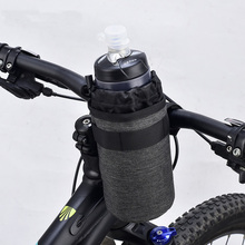 Bicycle Bag Polyester Bike Bags 750ml Insulated Water Drink Velcro Handlebar Bottle Cycling Accessories