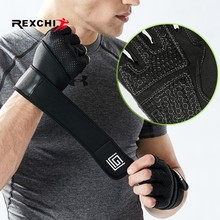 REXCHI Professional Gym Fitness Gloves Crossfit Workout Power Weight Lifting Bodybuilding Fingerless Glove Sports Equipment