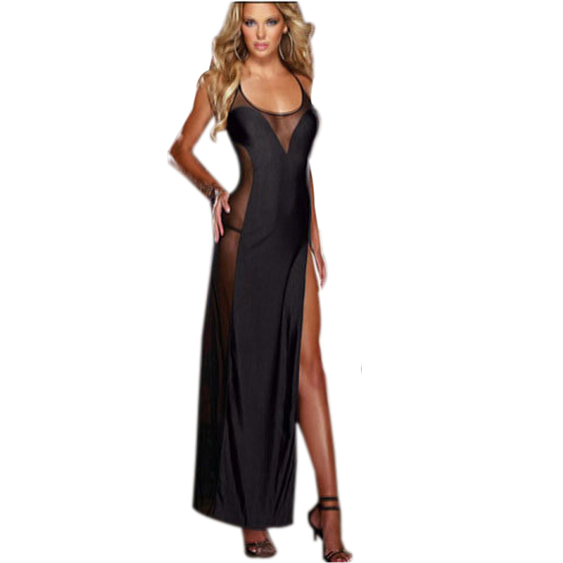 Plus Size Sexy Lingerie XXL 3XL 4XL Sexy Nightgowns Women Nightwear Summer Style Long Sleeping Night Dress+G-string Underwear