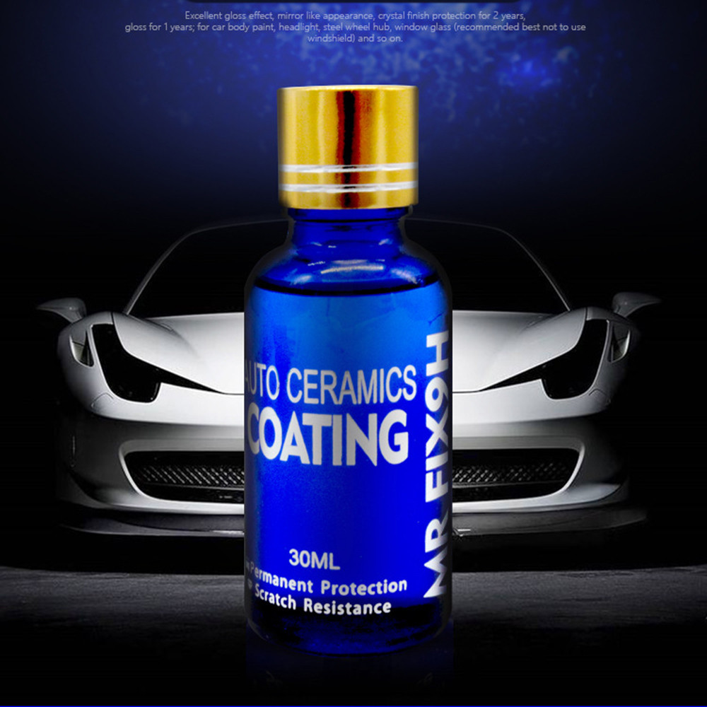 9H Car Paint Care 30ML super hydrophobic Glass Coating Car Liquid ceramic Coat Car Polish Polishing Auto Detailing Glasscoat Set
