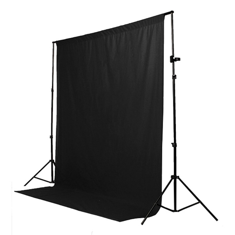 1.8x2.7m Black Screen wall Chromakey Backdrop 6x9 Muslin Video Photo Background Photography Studio Background Photo Lighting white photography backdrop 300 400cm video photo photography lighting studio muslin background