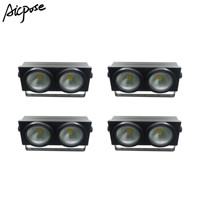 4pcs/lots 2 Eyes LED COB Stage lights  Blinder Light Cold White/Warm White 2in1 COB light LED Control 2x100W Audience light