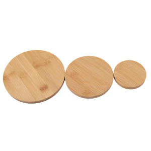 EH-LIFE Home Decoration Round Wooden Plate Storage Tray