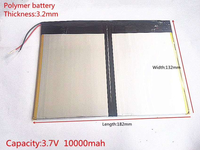 Free shipping Tablet PC talk9x u65gt,battery 3.2*132*182 3.7V 10000 mah Li - ion battery for 32132182Free shipping Tablet PC talk9x u65gt,battery 3.2*132*182 3.7V 10000 mah Li - ion battery for 32132182