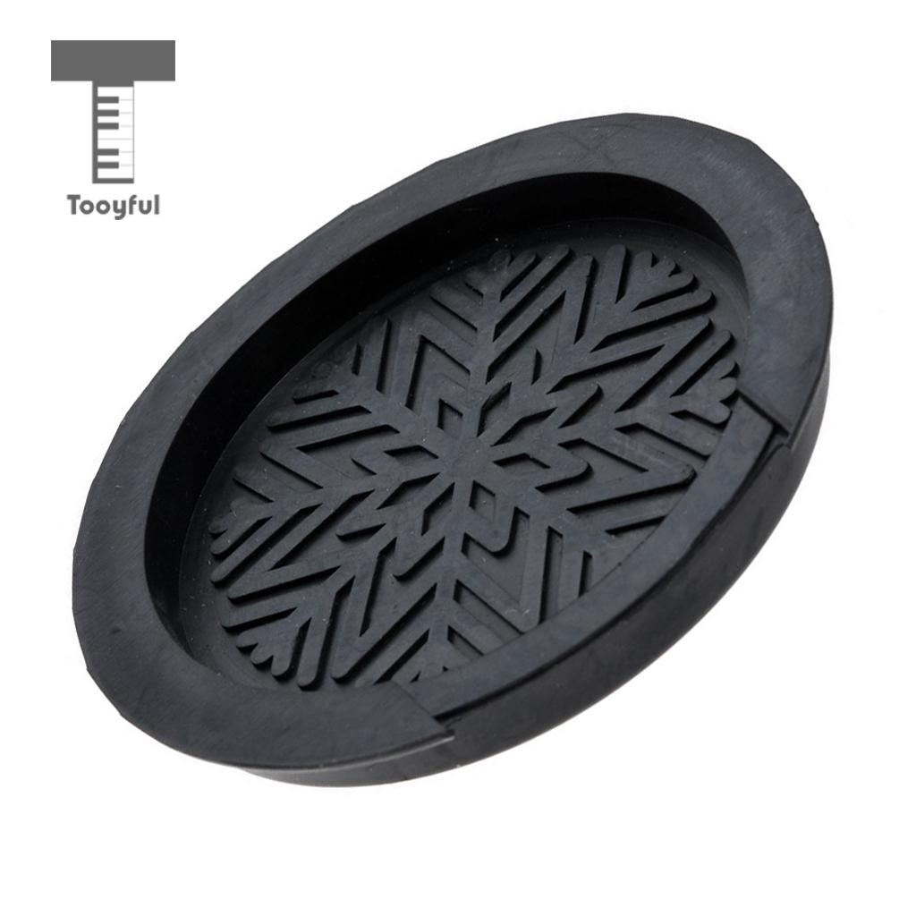 Tooyful Rubber Guitar Mute Silencer with Sound Hole Cover Feedback Control Set for Acoustic Folk Guitar Parts