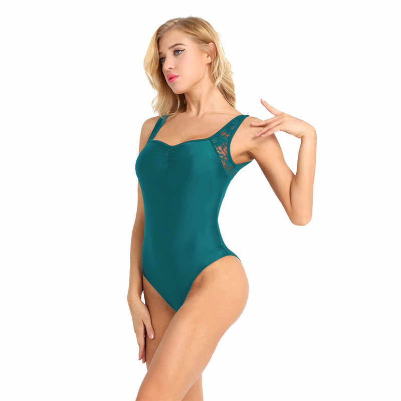MSemis Ballet Leotards for Women Gym Dress Leotard Women Sleeveless Lace Low Back Bodysuit High Cut Ballerina Dress  for Women