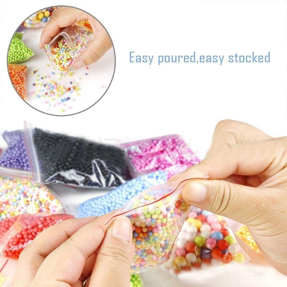 Clear Slime Making Kit,15 Pack Slime Making Kits Supplies,Fishbowl Beads,Foam Balls,Glitter Shake Jars,DIY Art Craft