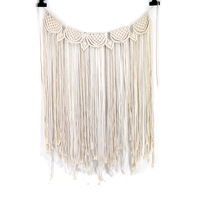 Handmade Cotton Wedding Backdrop Large Woven Tapestry Macrame Wall Hanging for Indoor Outdoor Boho Wedding Decoration