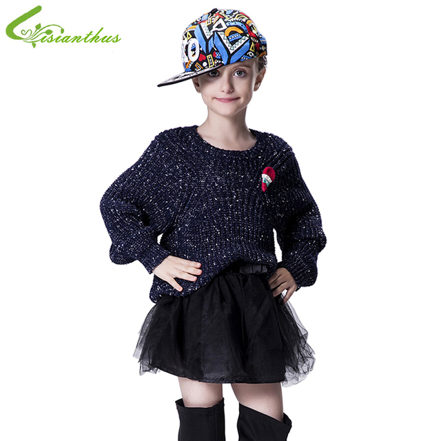 Suéter de las muchachas Niños Otoño Invierno Tops Ropa Suave de Acrílico Niños Prendas de punto de Moda Ropa Envío de La Gota de la Alta Calidad
