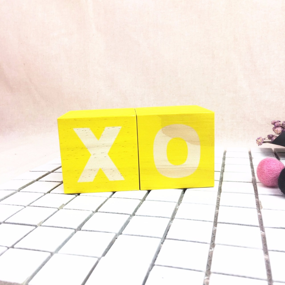 Nordic Style 1PC Wooden XO Letters Blocks Ornaments DIY Baby Room ...