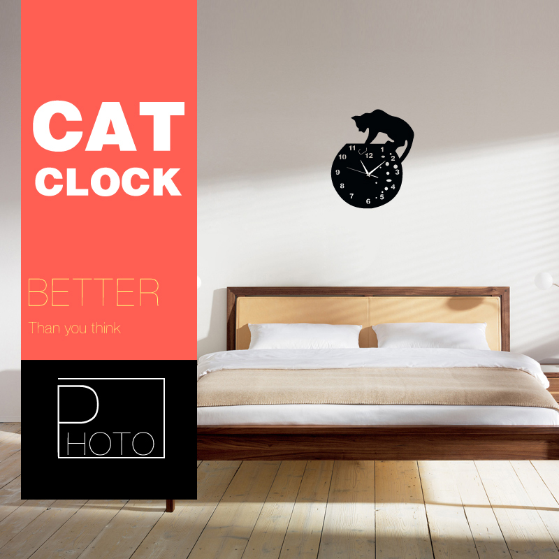 Aliexpresscom Buy FunlifeTM Stylish Cat on Roof Acrylic Wall