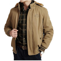 NEW Brand Winter Jacket Men Warm Thicken Coat High Quality Famous Cotton Padded Fashion Parkas Plus